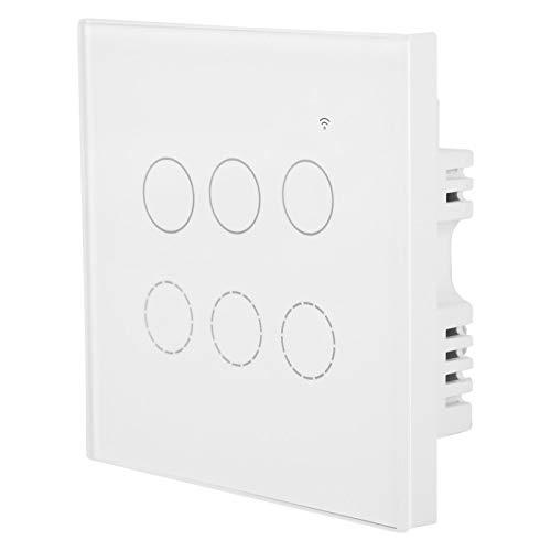 Panel de luz de pared Interruptor táctil Inalámbrico Remoto de pared Aplicación móvil Remoto de luz de pared Táctil Consumo de energía ultrabajo Material de vidrio templado para(#5)
