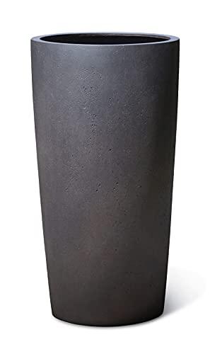 VAPLANTO® Pflanzkübel HIGH Conus 90 Espresso Anthrazit Rund XL * 47 x 47 x 90 cm * 10 Jahre Garantie