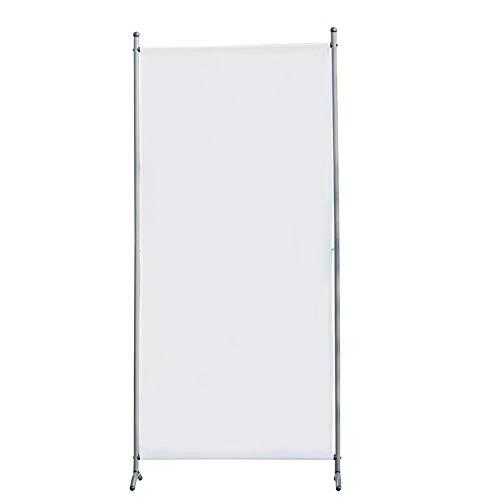 Angel Living Biombo Separador de 1 Panel, Decoración Elegante, Separador de Ambientes Plegable, Divisor de Habitaciones, 80X180 cm (Blanco)