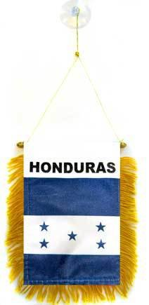 AZ FLAG Wimpel Honduras 15x10cm - HONDURANISCHE Mini Flagge 10 x 15 cm - Auto Pennant spezielle Auto