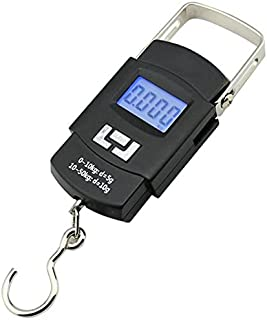OFIXO 50Kg Portable Electronic Digital LCD Pocket Weighing Hanging Scale for Travel Luggage Weighing Scale