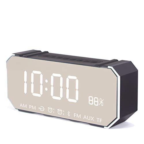 Luz nocturna analógica Reloj despertador silencios LED Reloj Despertador Inalámbrico Bluetooth Altavoz Reloj Mute Reloj Alarma Multifunción Inteligente Reloj Despertador Electrónico Dormitorio de la O