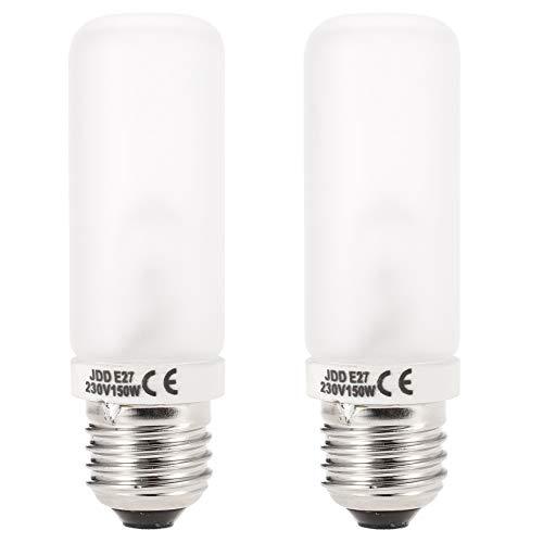 Andoer JDD E27 150W lampadina, E27 Studio Strobe Fotografia Modeling Flash Light Bulb Tubo Della Lampada 220V-240V - 2 pezzi