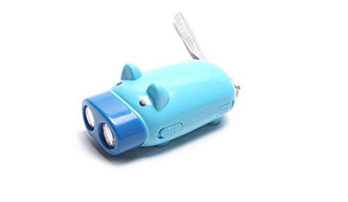 Demakt Linterna Eléctrica 2 LED de Mano sin Pilas Linterna Mmanual de Cargar sin Pilas 1PCS