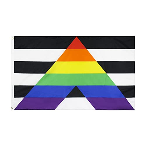 Bandera De Aliado Recto Gay De 3x5 Pies - Banderas Arcoíris De Alianza Recta LGBT Bandera Lesbiana Pride Flag Pulsera Lgbt