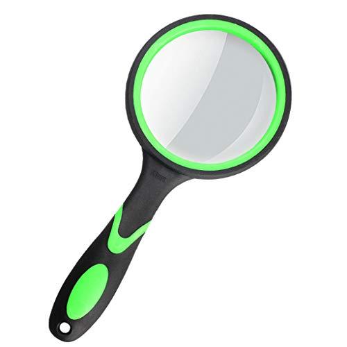 K&F-magnifier Lupa, Lupa De Mano 20X Lupa HD Ancianos Niños Estudiantes Lectura De Libros, Mapas, Inspecciones, Manualidades Hobby Green (Size : 50mm)