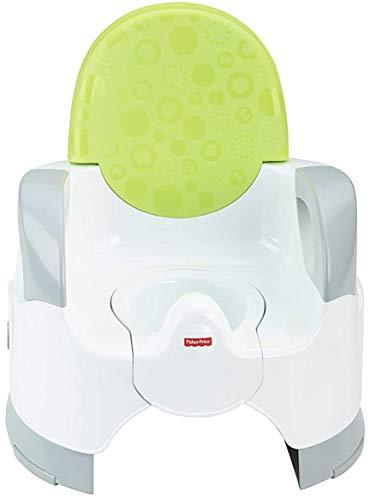 Fisher-Price Pot Ajustable Grand Confort avec accoudoirs pour aider bébé à être propre, dès 3 ans, CBV06