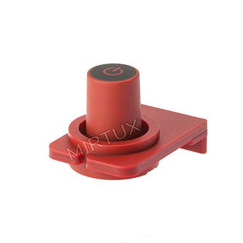 MIRTUX Botón de Encendido y Apagado Compatible con Cafetera Krups Essenza. MS-0039152