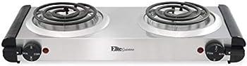 Elite Gourmet Double Countertop Electric Hot Burner