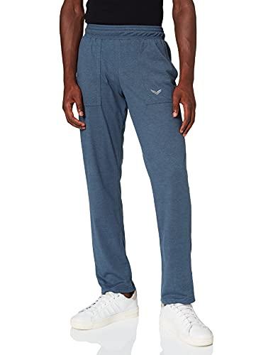 Trigema Herren Sporthose 637091 Hose, Blau (Jeans-Melange 643), W(Herstellergröße: L)