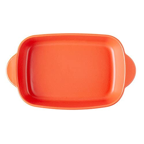 1 Piece Nordic Bakeware Binaural Baked Rice Bowl Baking Sheets Nonstick Oven Nonstick 10 Inches Orange