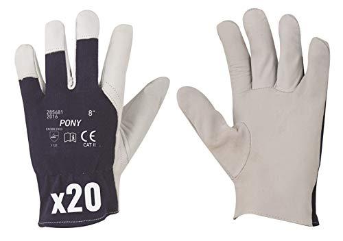 Guantes de trabajo de piel de cabra, guantes de jardinería, guantes de...