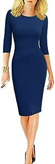 REPHYLLIS Women 3/4 Sleeve Striped Wear to Work Business...