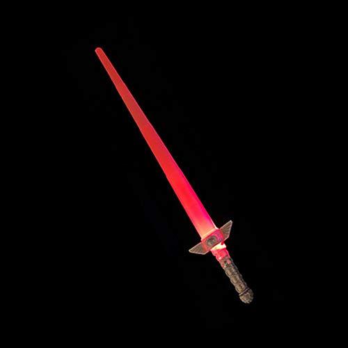 Lichtschwert Glühendes Schwert Lichtschwert Faltbares Schwert Doppelseitiger Säbel Mehrfarbiges Lichtschwert mit Soundeffekten Spielzeug-Lichtschwerter Für Jungen Mädchen E