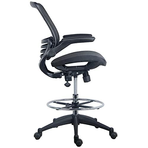 Harwick Evolve All Mesh Heavy Duty Drafting Chair, Dark Knight Edition