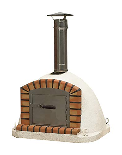 Outdoor Wood Fired Pizza Oven 70cm Brick Garden Oven