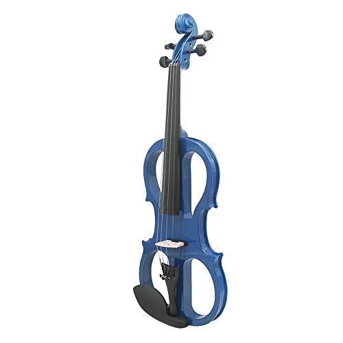 HUDEMR Violín Principiantes Azules De Gama Alta Que Toca La Electro-acústicos Instrumentos...