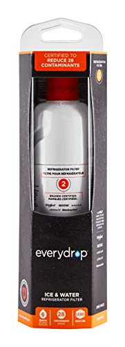 EveryDrop by Whirlpool Refrigerator Water Filter 2, EDR2RXD1, Pack of 1