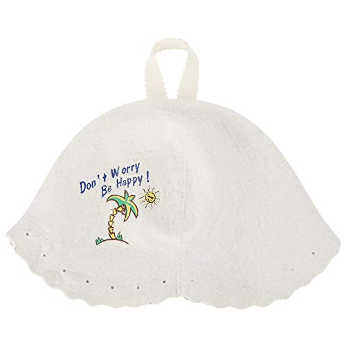 Viccilley Style Hat - Sombrero de Sauna Sombrero de Fieltro de Lana Ligero de Estilo Moderno Accesorios de Sauna para Uso de Hombres y Mujeres