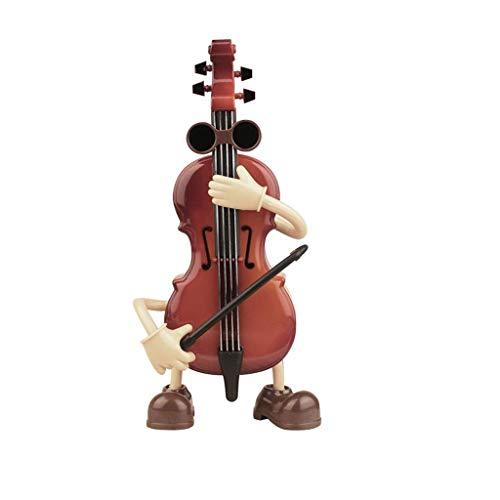 XUANLAN Forma de violín Linda Caja de música Retro Decoración para el hogar Caja de música Craft Niño Cumpleaños Niños Juguete Cajas Musicales