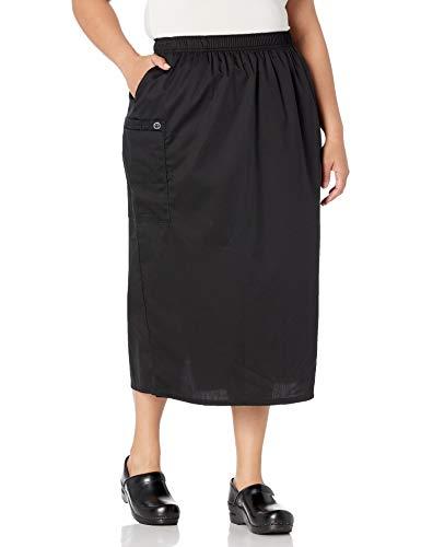 WonderWink Women's Size Wonderwork Plus Pull-on Cargo Scrub Skirt, Black, 4X-Large