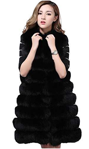 Vrouwen faux peel-lange mantel Shaggy vest mouwen Chunky Trekker Voor de winter Nieuwjaar