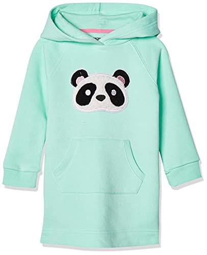 Amazon Essentials Fleece Long-Sleeve Hooded Dress_dnu Playwear, Hora del Juego, 6-7 años