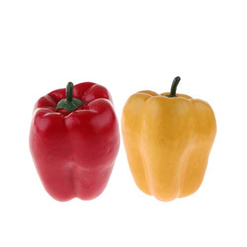 Fenteer 2 Stück Künstliches Kunstoff Gemüse Kunstgemüse Plastikgemüse Lebensmittel Spielzeug