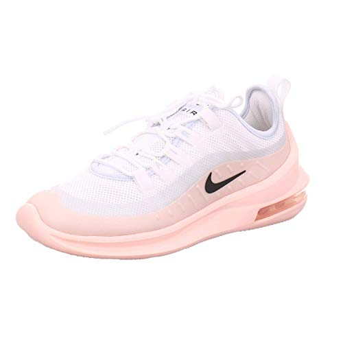 Nike Wmns Air MAX Axis, Zapatillas para Mujer, White/Black/Washed Coral/Aura, 36 EU