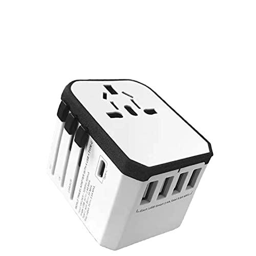 Adaptador de corriente de adaptador de viaje universal internacional, adaptador de carga universal de carga rápida con enchufe de Apple multifunción para la UE, Estados Unidos, Australia, Reino Unid
