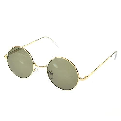 NJJX Gafas De Sol DeMontura RedondaGafas Retro Coreanas De Moda Para Hombres Y Mujeres Gafas Gafas De Sol Verde