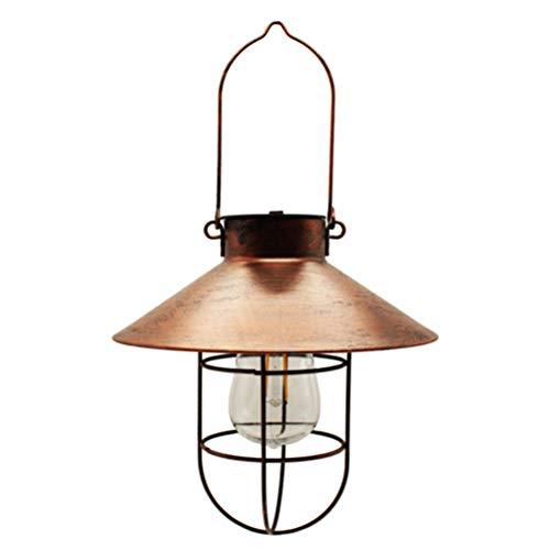 Kousa - Farolillos solares para exteriores, estilo vintage, con bombillas LED cálidas, para jardín, patio, caminos