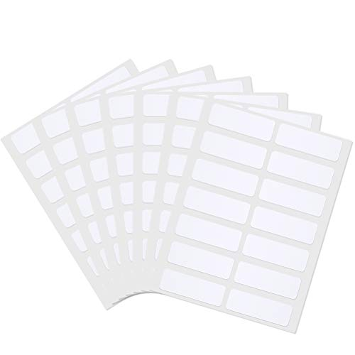 nuoshen 24 Blätter Universal Etiketten, Klebeetiketten Adressetiketten Haushaltsetiketten Tiefkühletiketten für Büro und Haushalt 12x 36 mm, 336 Packung