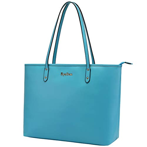 Laptop Bag for Women,15-15.6Inch Tote Bag Briefcase Professional Business Office Computer Bag with Zipper Pockets 2020blue