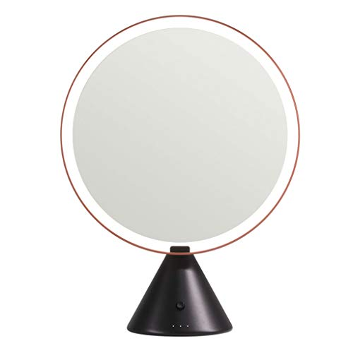 QULONG Makeup Mirror with Light, Dimmable Cosmetic Mirror,LED Lighted Makeup Vanity Mirror for Home Travel Best Woman Gift,A