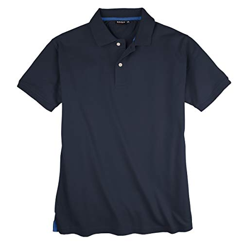 Redfield Basic Stretch-Poloshirt Übergröße Navy, Größe:4XL