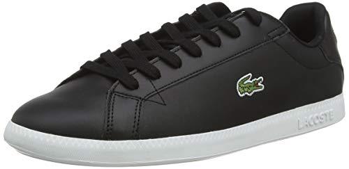 Lacoste Mens Graduate BL 1 SMA Sneaker, Schwarz (Black/White), 42 EU