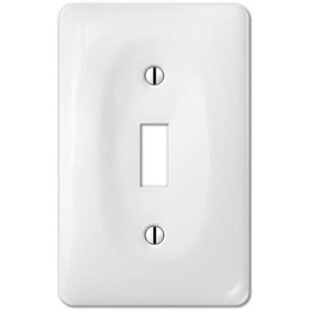 Porcelain Decorative Switch Plate Wall Plate Cover Rectangular White Double Toggle 3002tt