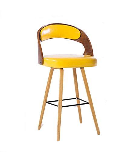 Barhocker, Tresenhocker Barstuhl, Verrückter hocker Massivholz Barhocker, PU Stuhl Sessel Haushaltshocker Restaurant Cafe Esszimmerstuhl Dekorative Hocker Make-Up Stuhl 48 * 48 * 99 CM Hocker und Stüh