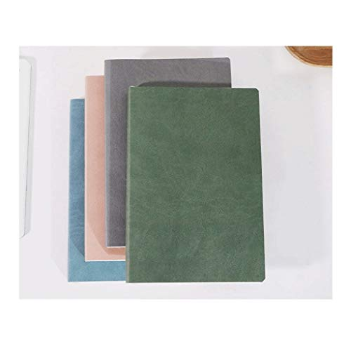 HMEI Cuaderno clásico con reglas, papel grueso de 80 g/m², diario de piel sintética de tapa dura, 116 hojas/232 páginas, para cuaderno escolar de 5.5 x 8.2 pulgadas para trabajo (color: 4 paquetes)