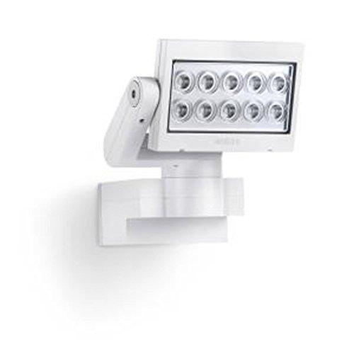 Steinel Strahler inkl. eingebauten 30 W LED, IP44, 20,5 x 20 x 22 cm, weiß XLED-SL10WEISS