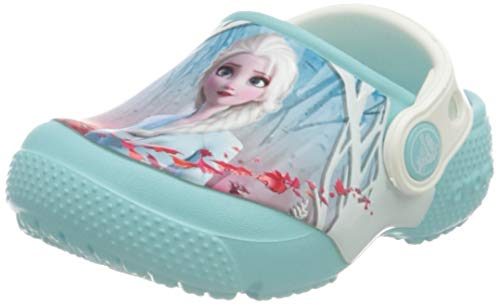 Crocs Unisex-Kinder Fun Lab Disney Frozen 2 Clog Freizeit Flip Flops Sportwear, Ice Blue, 27 EU