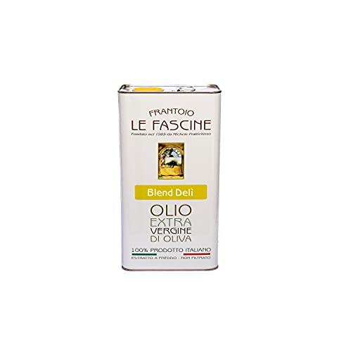 """Le Fascine """"Blend Delì"""" - Olio Extravergine Di Oliva 100 % Italiano Estratto A Freddo 100% Prodotto Da Olive Provenzali Ogliarola e Leccino (Latta da 3 Litri)"""