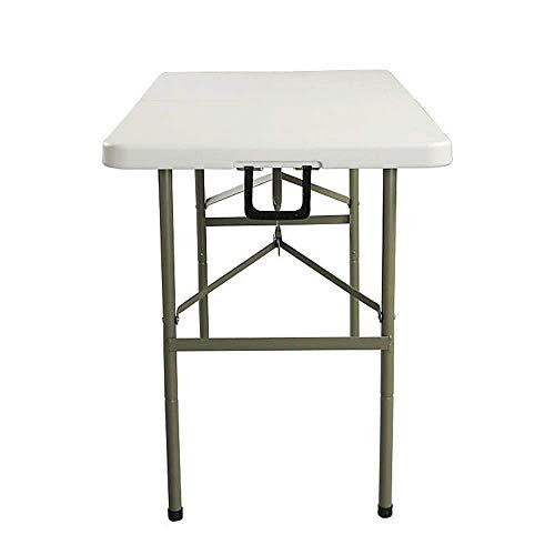 Tägliche Ausrüstung Tragbarer Camping-Tisch Multifunktionaler zusammenklappbarer Outdoor-Camping-Tisch Tragbarer, leicht zu reinigender Garten-Picknicktisch 122 * 61 * 74 cm Extra stark haltbar (Fa