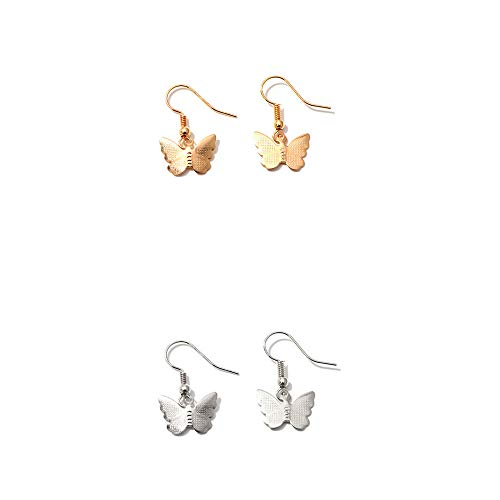 Butterfly Crystal Rhinestone Cubic Zirconia Big Hoop Drop Dangle Earrings Iced Out Dainty Shiny Set for Women Girl Jewelry Gifts Punk Cute Charm Sparkling-Drop