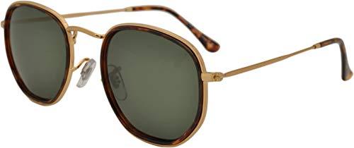 SQUAD Gafas de sol para hombres y mujeres Montura Metálica polígono /Octogonal Lentes Polarizadas protección UV400 Fashion Modernas Elegante Gafas ligeras