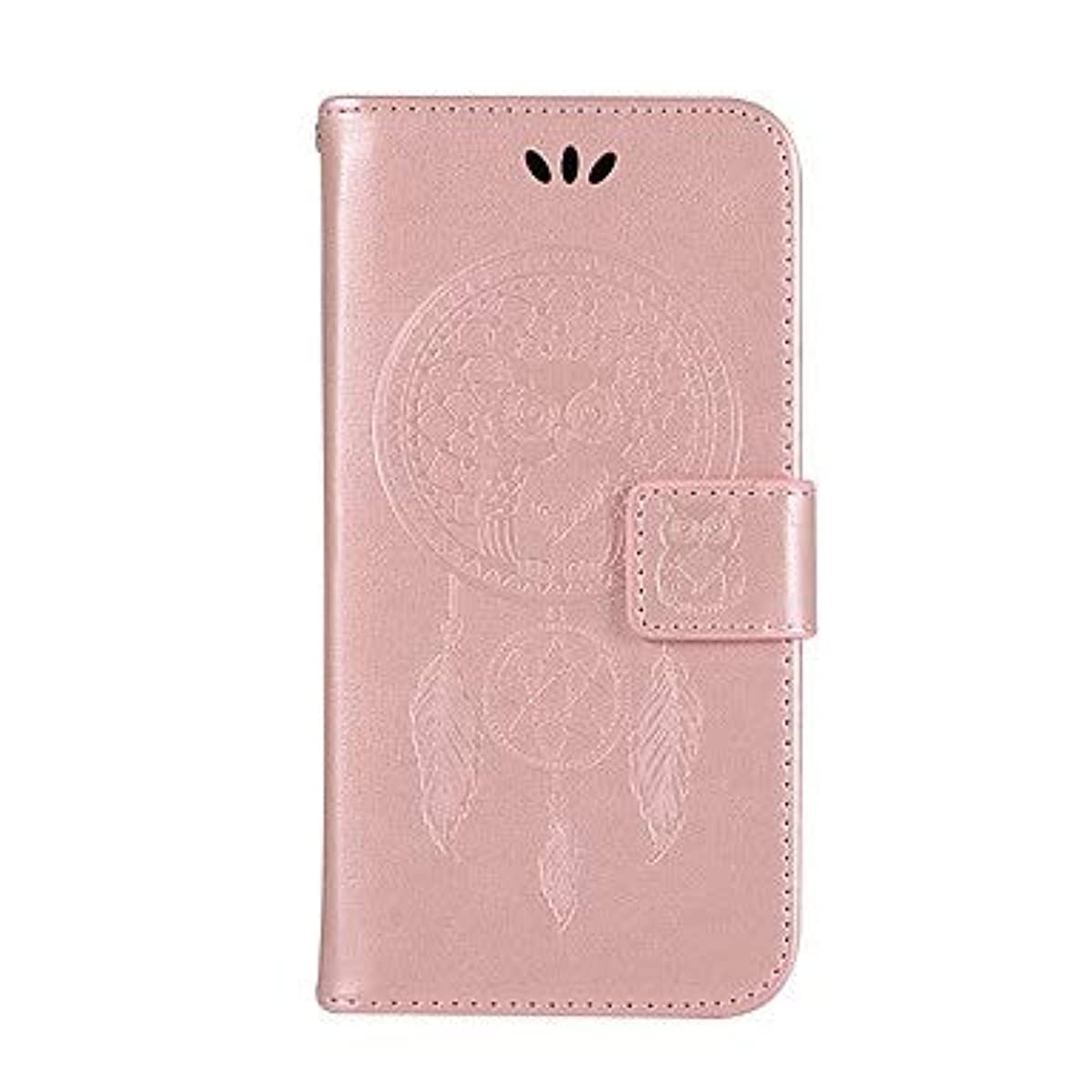 Case for Samsung Galaxy Wallet/Card Holder/with Stand Full Body Cases Owl Hard PU Leather (Color : Rose Gold, Compatible Models : Galaxy J4 Plus)