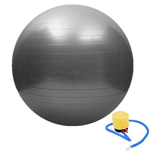 fourseasons Gymnastikball Sitzball Pezziball 45cm Grau Pilates Yoga Ball als Fitness Kleingeräte und Balance Stuhl im Gym-Home-Büro
