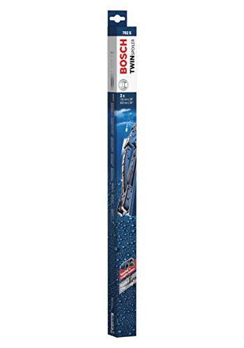 Escobilla limpiaparabrisas Bosch Twin Spoiler 702S, Longitud: 700mm/650mm – 1 juego para el parabrisas (frontal)