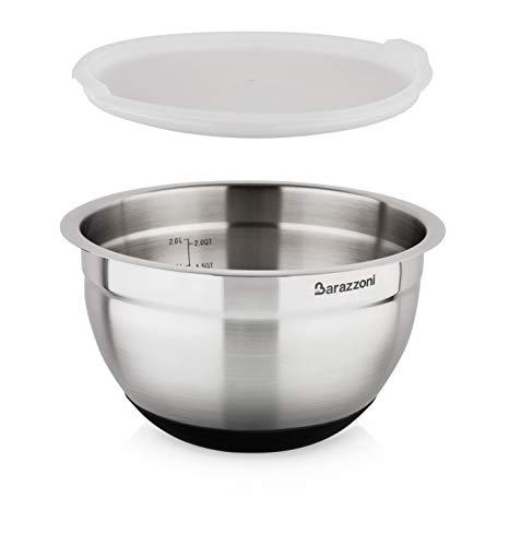 Barazzoni Bowl Acciaio Inox 18/10 ø20cm x H12,6cm C/Cop, 18/10-Silicone